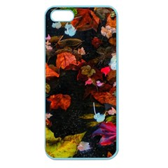 Leaves And Puddle Apple Seamless Iphone 5 Case (color) by okhismakingart