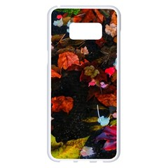 Leaves And Puddle Samsung Galaxy S8 Plus White Seamless Case