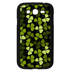 Green Leaves Meadow Shamrock Pattern Samsung Galaxy Grand Duos I9082 Case (black) by AnjaniArt