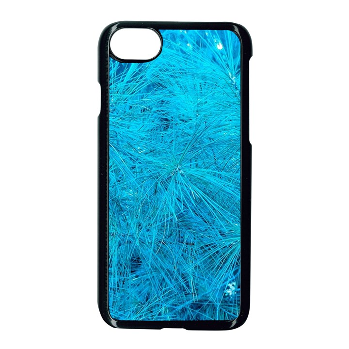 Turquoise Pine iPhone 8 Seamless Case (Black)