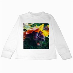Mushrooms Kids Long Sleeve T-shirts by okhismakingart