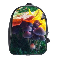 Mushrooms School Bag (xl) by okhismakingart
