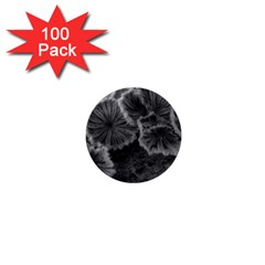 Tree Fungus Black And White 1  Mini Buttons (100 Pack)  by okhismakingart