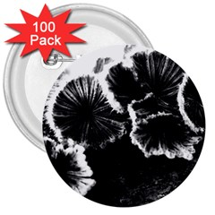 Tree Fungus High Contrast 3  Buttons (100 Pack)  by okhismakingart