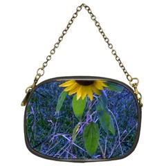 Blue Sunflower Chain Purse (two Sides)