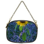 Blue Sunflower Chain Purse (Two Sides) Back