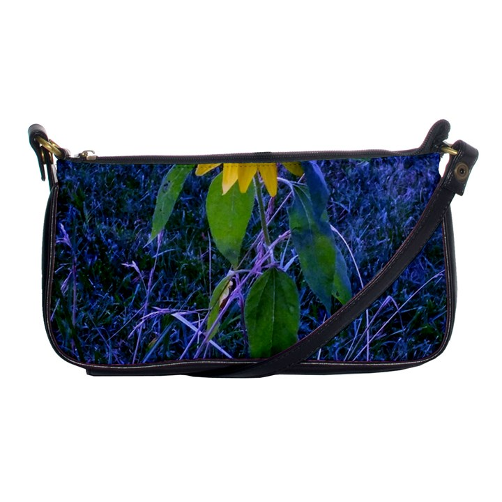 Blue Sunflower Shoulder Clutch Bag
