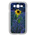 Blue Sunflower Samsung Galaxy Grand DUOS I9082 Case (White) Front