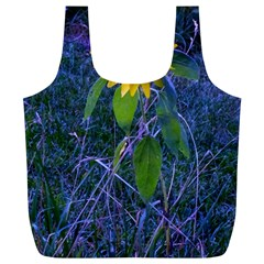 Blue Sunflower Full Print Recycle Bag (xl)