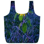 Blue Sunflower Full Print Recycle Bag (XL) Front
