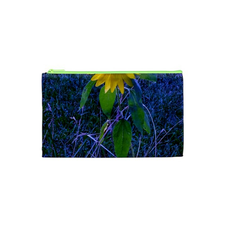 Blue Sunflower Cosmetic Bag (XS)