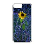 Blue Sunflower iPhone 7 Plus Seamless Case (White) Front