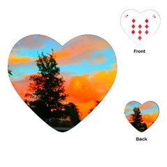 Neon Landscape Playing Cards (heart)