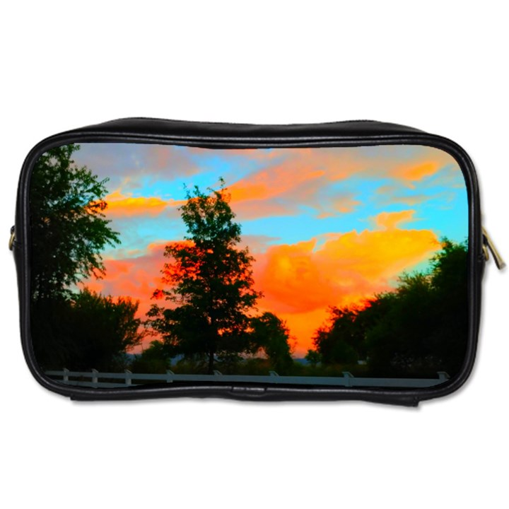 Neon Landscape Toiletries Bag (One Side)