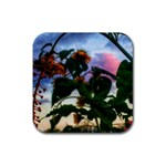 Sunflowers and Wild Weeds Rubber Coaster (Square)  Front