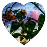 Sunflowers and Wild Weeds Jigsaw Puzzle (Heart) Front