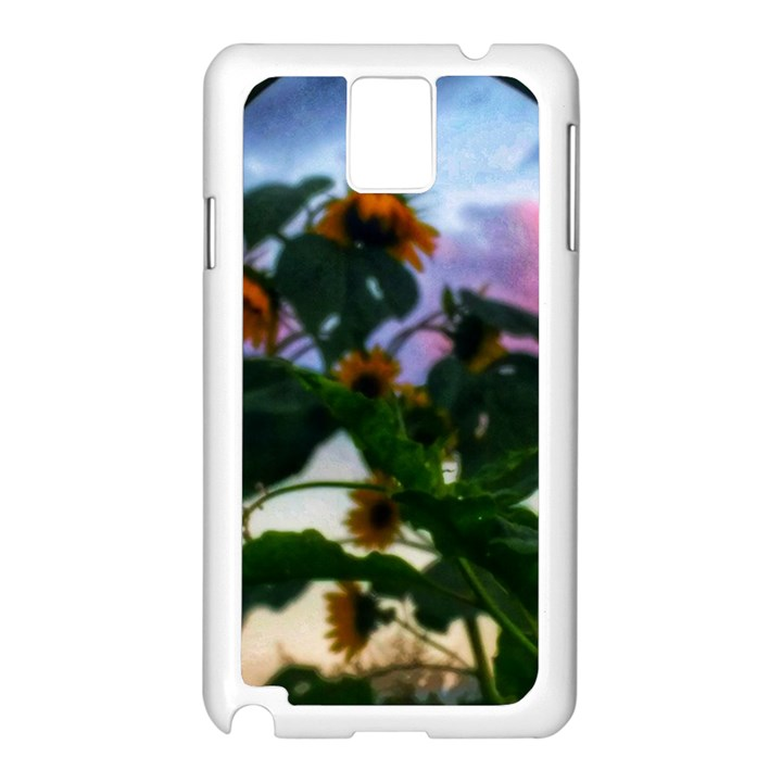 Sunflowers and Wild Weeds Samsung Galaxy Note 3 N9005 Case (White)