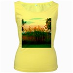Field of Goldenrod Women s Yellow Tank Top Front