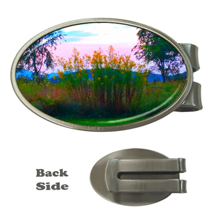 Field of Goldenrod Money Clips (Oval)