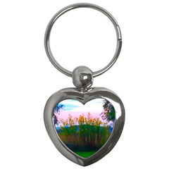 Field Of Goldenrod Key Chains (heart)