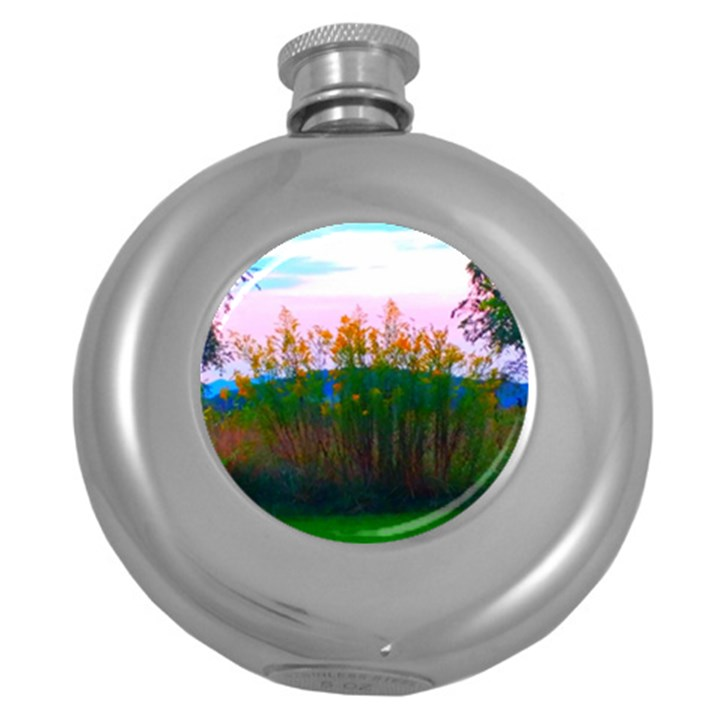 Field of Goldenrod Round Hip Flask (5 oz)