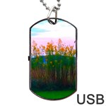 Field of Goldenrod Dog Tag USB Flash (One Side) Front