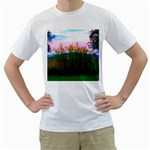 Field of Goldenrod Men s T-Shirt (White)  Front
