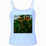 Sunflowers Baby Blue Spaghetti Tank Front