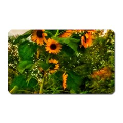 Sunflowers Magnet (rectangular)