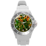 Sunflowers Round Plastic Sport Watch (L) Front