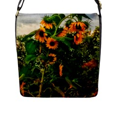 Sunflowers Flap Closure Messenger Bag (l)