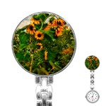 Sunflowers Stainless Steel Nurses Watch Front