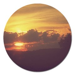 Early Sunset Magnet 5  (round)