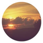 Early Sunset Magnet 5  (Round) Front