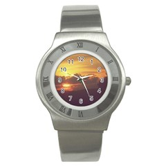 Early Sunset Stainless Steel Watch