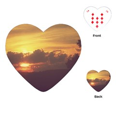 Early Sunset Playing Cards (heart)