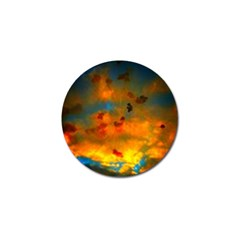 Tie Dye Sky Golf Ball Marker (10 Pack) by okhismakingart