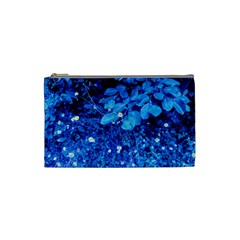 Blue Daisies Cosmetic Bag (small)