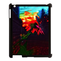 Neon Cone Flower Apple Ipad 3/4 Case (black) by okhismakingart