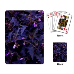 Purple Nettles Playing Cards Single Design