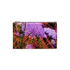 Blue Tinted Queen Anne s Lace Cosmetic Bag (small)