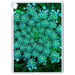 Turquoise Queen Anne s Lace Apple Ipad Pro 9 7   White Seamless Case by okhismakingart