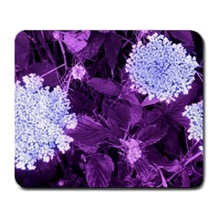 Queen Anne s Lace With Purple Leaves Large Mousepads by okhismakingart