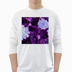 Queen Anne s Lace With Purple Leaves Long Sleeve T Shirt