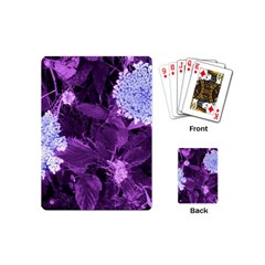 Queen Anne s Lace With Purple Leaves Playing Cards (mini) by okhismakingart