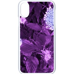 Queen Anne s Lace With Purple Leaves Iphone X Seamless Case (white) by okhismakingart