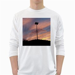 Parking Lot Sunset Long Sleeve T-shirt by okhismakingart