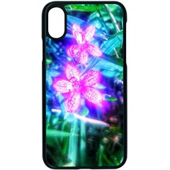 Glowing Flowers Iphone Xs Seamless Case (black) by okhismakingart