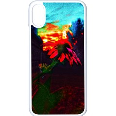 Neon Cone Flower Iphone Xs Seamless Case (white) by okhismakingart