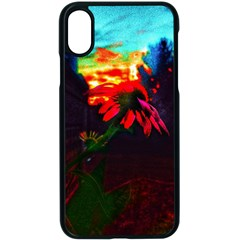 Neon Cone Flower Iphone Xs Seamless Case (black) by okhismakingart